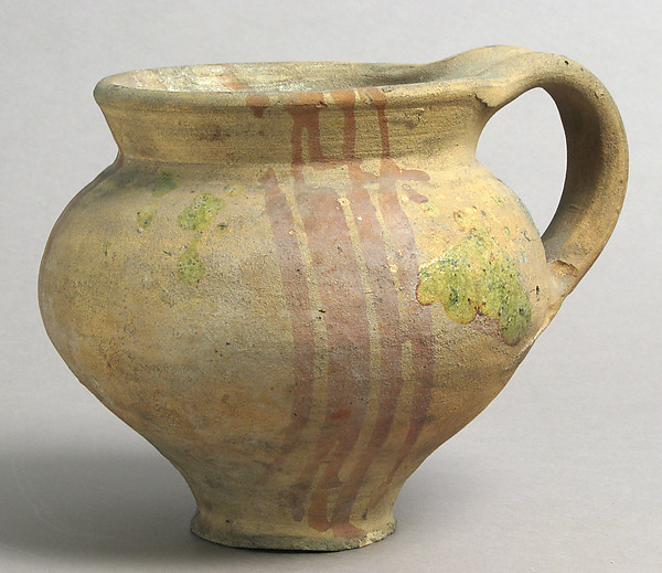 Jar, Earthenware with slip decoration and partial glaze, French