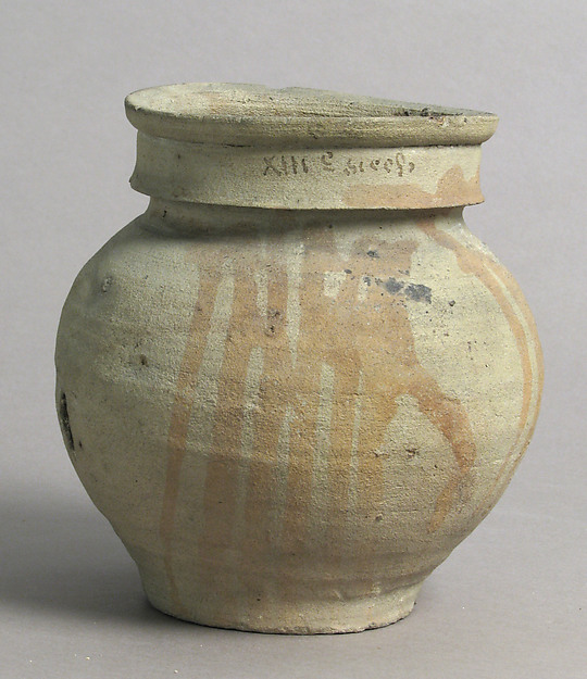 Jar, Earthenware with slip decoration, French