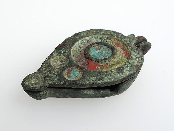 Seal Box, Champlevé enamel, bronze, Roman