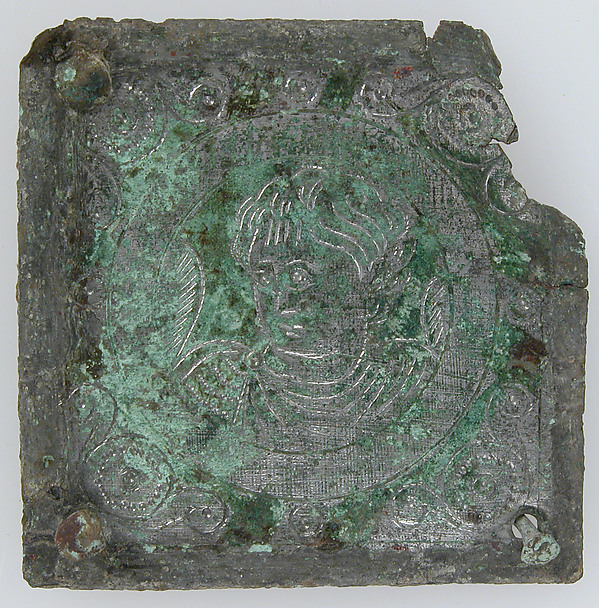 Tinned-Copper Plaque with a Personification, Tinned copper, Byzantine