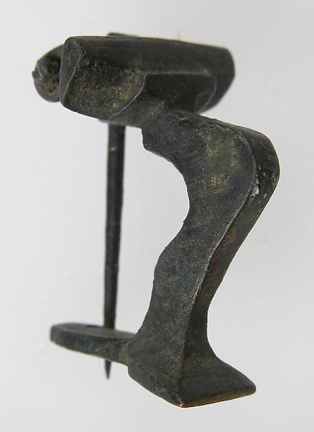 Knee Brooch, Copper alloy, Roman