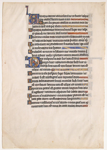 Manuscript Leaf from a Royal Psalter, Tempera and gold on parchment, British