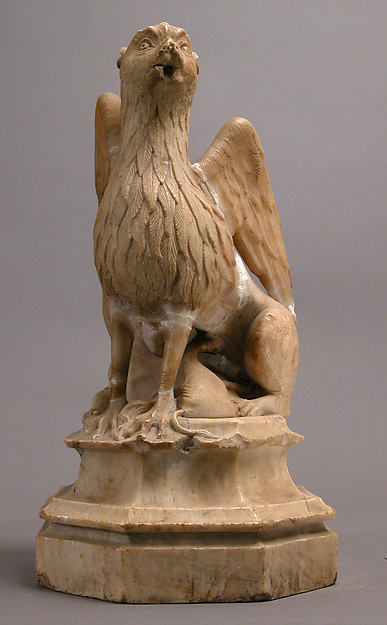 Griffin and Other Monster, Gil de Siloe (Spanish, active 1475–1505), Alabaster, Spanish
