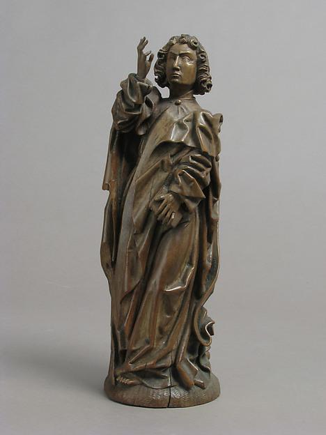 Saint John The Evangelist, Boxwood, German or South Netherlandish