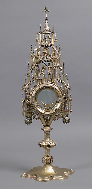 Monstrance, Silver-gilt, German