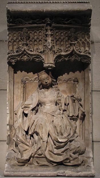 Saint Catherine of Alexandria, Alabaster, North Spanish