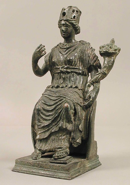 Statuette of the Personification of a City, Copper alloy, Late Roman or Byzantine
