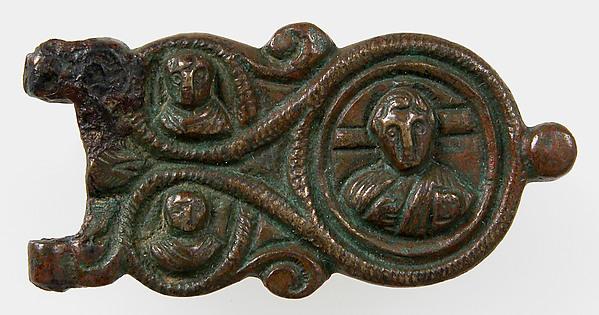 Belt Plate of Buckle, Bronze, Langobardic