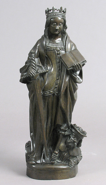 Saint Catherine, Copper alloy, French