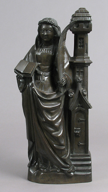 Saint Barbara, Copper alloy, French