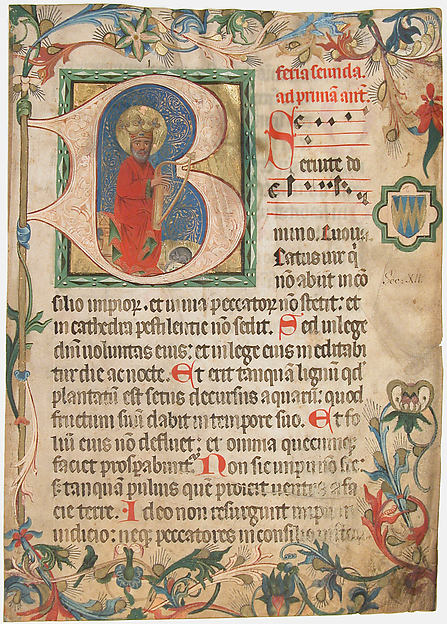 Manuscript Leaf from a Missal, Tempera, ink, shell gold, and gold on parchment, Austrian