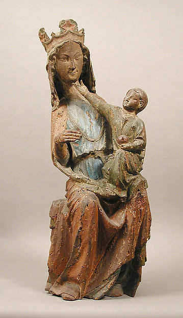 Virgin and Child, Oak, polychromy, French
