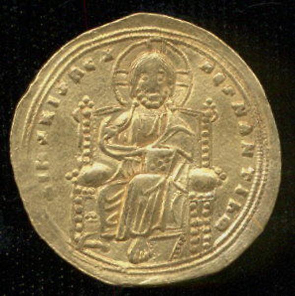 Histamenon of Romanos III Argyros, Gold, Byzantine