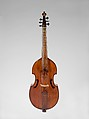 Bass Viola da Gamba, Attributed to Barak Norman (British, 1651–1724 London), Wood, British