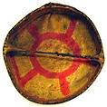 Frame Drum, Cedar (?) wood, buffalo or deerskin, iron nails, cord, Native American (Flathead)