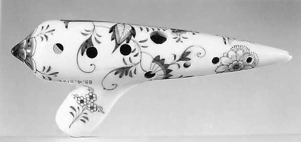 Ocarina, Attributed to Max Freyer & Co., porcelain, German