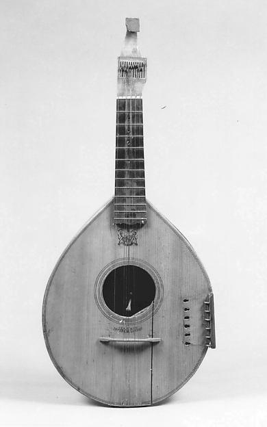 Keyed Cittern (English Guitar), Christian Claus (German, active London ca. 1783–1793 New York), Various woods, bone, ivory, brass, British