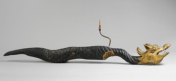 Sea Dragon, Wood, brass, gilding, Italian