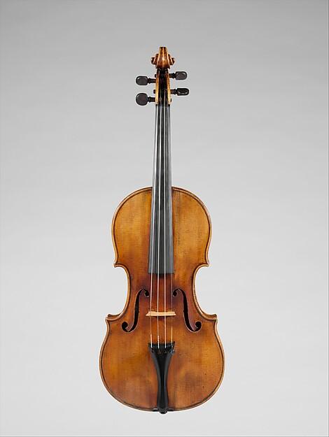 """The Francesca"" Violin, Antonio Stradivari (Italian, Cremona 1644–1737 Cremona), Maple, spruce, ebony, mother of pearl, Italian (Cremona)"