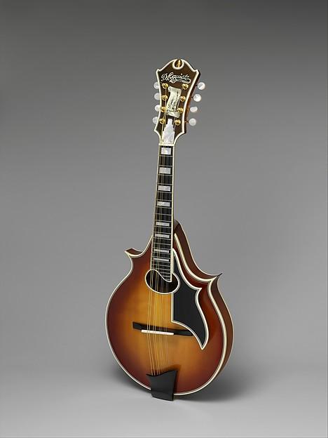 Archtop Mandolin, James D'Aquisto (American, New York 1935–1995 Corona, California), Spruce, maple, ebony, celluloid, mother-of-pearl, American