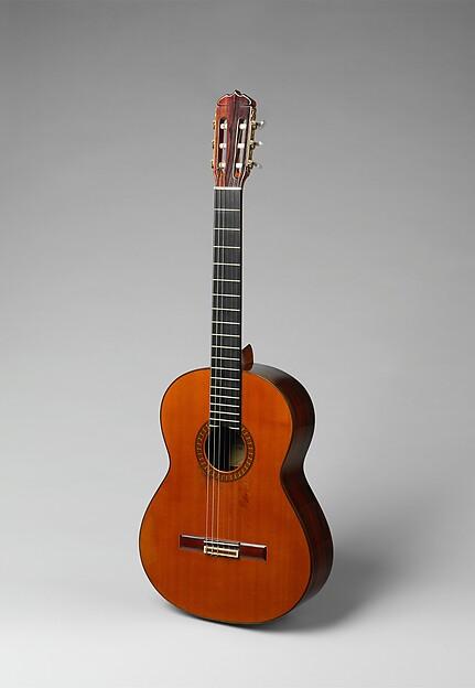 Guitar, Workshop of José Ramirez III (Spanish, Madrid 1922–1995), Spruce, rosewood, ivory or bone, ebony, plastic, Spanish