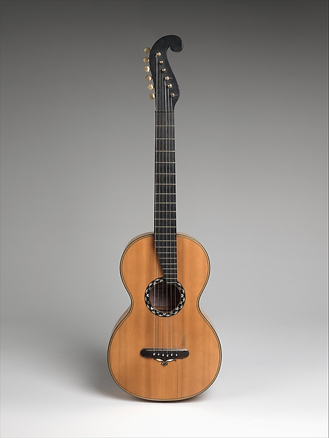 Guitar, Christian Frederick Martin (Markneukirchen, Saxony 1796–1873 Nazareth, Pennsylvania), Wood, maple, spruce, abalone, ebony, metal, brass, ivory, American