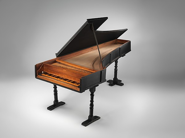 Grand Piano, Bartolomeo Cristofori (Padua 1655–1731 Florence), Cypress, boxwood, paint, leather, fir, Italian (Florence)