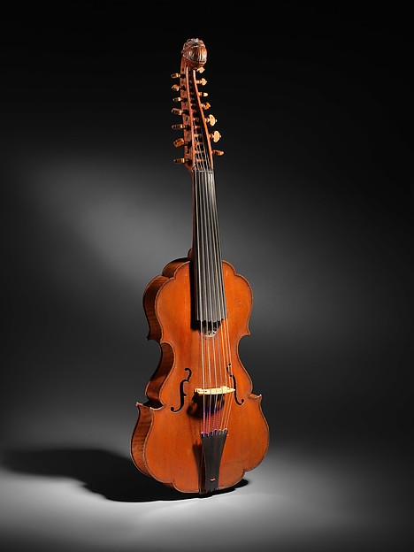 Viola d'Amore, Johannes Florenus Guidantus, Italian (Italian, Bologna 1687–1760 Bologna), Spruce, maple, ebony, Italian