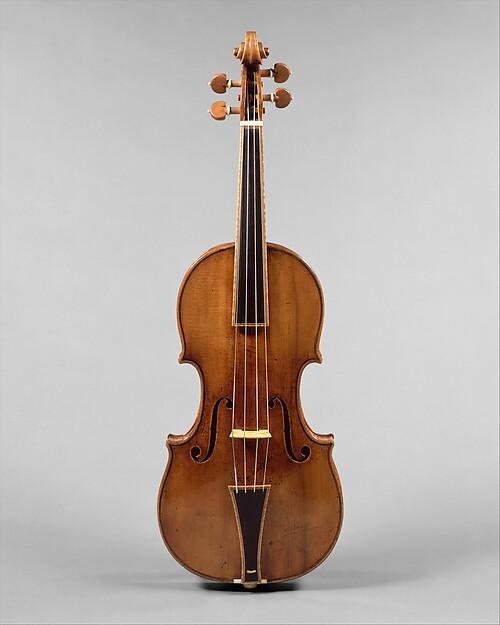 """The Gould"" Violin, Antonio Stradivari (Italian, Cremona 1644–1737 Cremona), Maple, spruce, ebony, Italian (Cremona)"