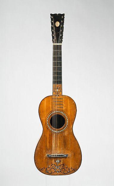 Guitar, Joseph Benedid (Cadiz, 1760–1836), Pine, ebony, maple, bone, mahogany, Spanish