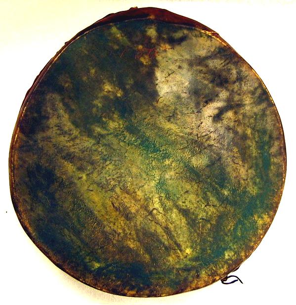 Frame Drum, Eskimauan family?, wood, skin, iron, Native American (Alaska or Northern Plains Indians)