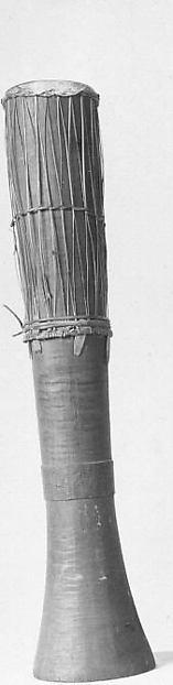 Gendang, Wood, snakeskin, rattan, Bornean