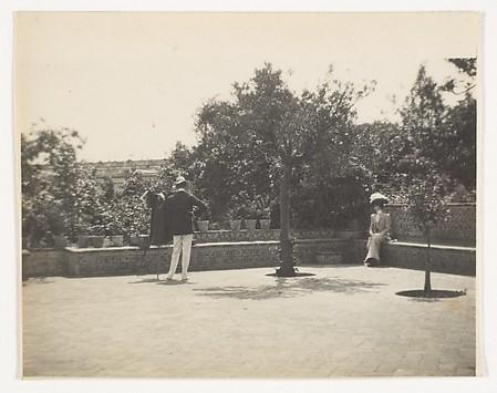 [Adolf de Meyer Photographing Olga in a Ga...