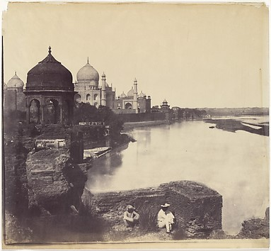 [The Taj Mahal from the Banks of the Yamun...