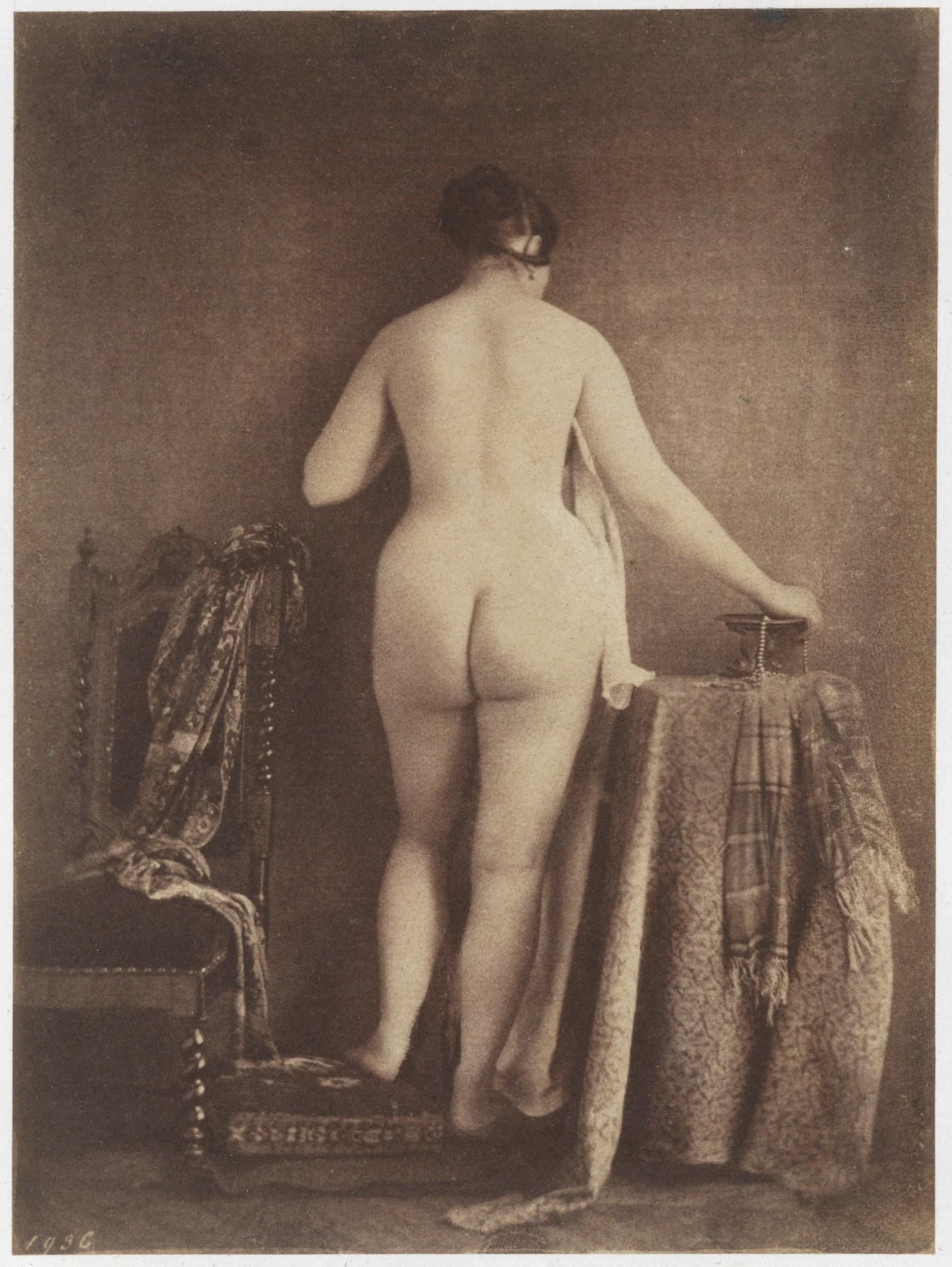 julien vallou de villeneuve | [female nude, reclining, in profile