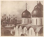 Moscow, Domes of Churches in the Kremlin, Roger Fenton (British, 1819–1869), Salted paper print from paper negative