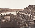 Ile de Fîleh (Philæ), Vue Génèrale Prise du Point I, Sur La Plateforme du Pylône, Félix Teynard (French, 1817–1892), Salted paper print from paper negative