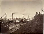 Fête de S. A. Ismaïl Pacha à bord des bateaux de LL. A A. les princes, janvier 1867, Gustave Le Gray (French, 1820–1884), Albumen silver print from paper negative