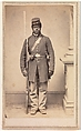 Private Louis Troutman, Company F, 108th Regiment, U.S. Colored Infantry, Gayford & Speidel (Active Rock Island, Illinois, 1860s), Albumen silver print from glass negative