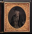Union Sergent John Emery, Unknown (American), Tintype with applied color