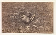 Confederate Soldier [on the Battlefield at Antietam], Alexander Gardner (American, Glasgow, Scotland 1821–1882 Washington, D.C.), Albumen silver print from glass negative