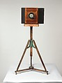 Mathew B. Brady's Studio Camera and Tripod, Unknown, Wooden camera, lens, and tripod