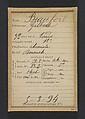 Beaufort. Gilbert. 32 ans, né à Paris Xle. Ébéniste. Anarchiste. 5/3/94., Alphonse Bertillon (French, 1853–1914), Albumen silver print from glass negative