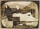 [Waterfront Scene with Collaged Elements: Reclining Woman, Self-Portrait], David Smith (American, Decatur, Indiana 1906–1965 Bennington, Vermont), Gelatin silver print