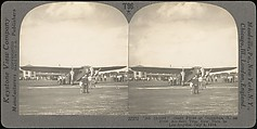 [Group of 3 Sterograph Views of Aviation, including the Wright Brothers], Keystone View Company, Albumen silver prints