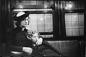 [Five 35mm Film Frames: Subway Passengers, New York City: Woman in Velvet Collar with Arm Around Child, Mother and Child, Woman in Polkadot Dress and Little Girl], Walker Evans (American, St. Louis, Missouri 1903–1975 New Haven, Connecticut), Film negative