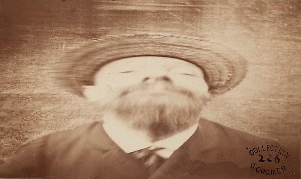 Self-Portrait Transformation [front view], Louis Ducos Du Hauron (French, 1837–1920), Albumen silver print from glass negative