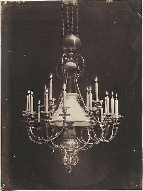 [Chandelier], Charles Nègre (French, 1820–1880), Salted paper print from glass negative