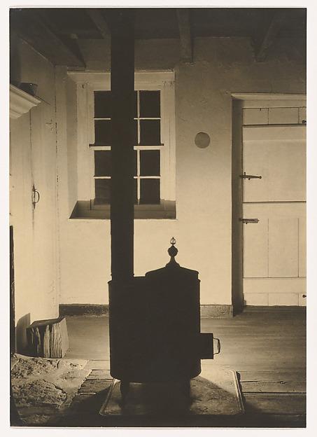 Doylestown House—The Stove, Charles Sheeler (American, Philadelphia, Pennsylvania 1883–1965 Dobbs Ferry, New York), Gelatin silver print