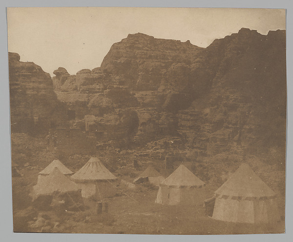 [Expedition Camp, Petra], Attributed to Leavitt Hunt (American, active 1850s), Salted paper print from paper negative